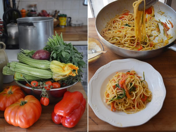 Rachel Roddy's recipe for pasta all'ortolana (aka with lots of vegetables)